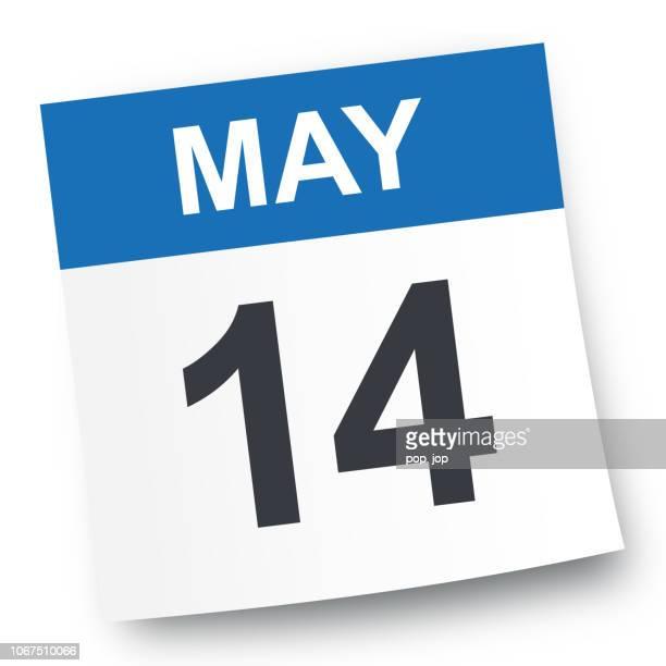 may 14 - calendar icon - may stock illustrations