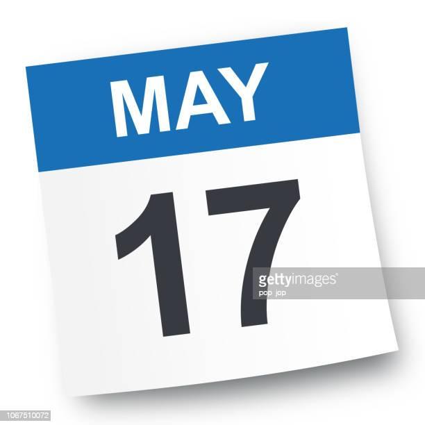 may 17 - calendar icon - may stock illustrations
