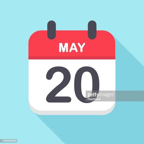 5月20日 - カレンダーアイコン - 数字の20点のイラスト素材/クリップアート素材/マンガ素材/アイコン素材