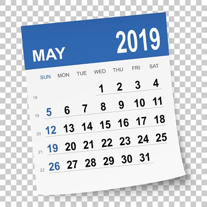 May 2019 calendar - gettyimageskorea