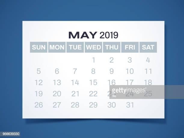 2019年 5 月カレンダー - 五月点のイラスト素材/クリップアート素材/マンガ素材/アイコン素材