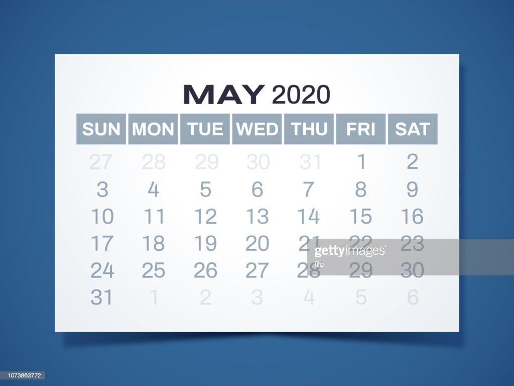 May 2020 Calendar Vector Art Getty Images