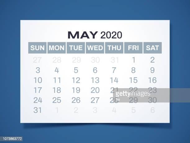 2020年 5 月カレンダー - 五月点のイラスト素材/クリップアート素材/マンガ素材/アイコン素材