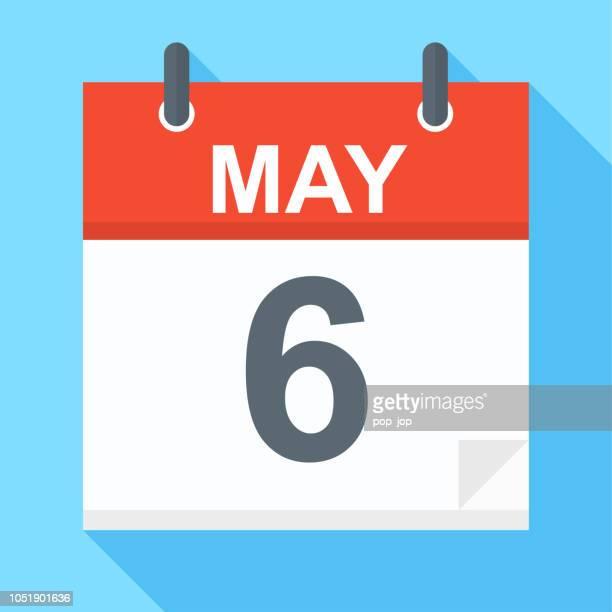 6. Mai - Kalender-Symbol