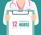 12 May. International Nurse Day background.