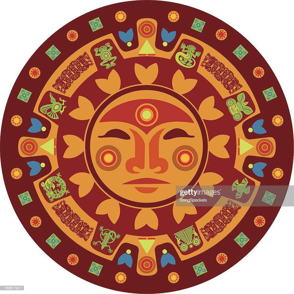 Mayan Calendar Vector Art : Mayan calendar vector art getty images