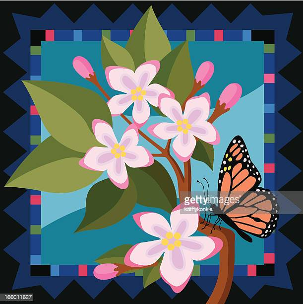 ilustrações, clipart, desenhos animados e ícones de mayflowers e borboleta monarca - pilritreiro