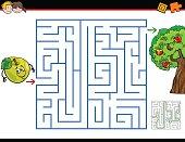 maze activity task cartoon