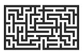 Maze. Black square puzzle