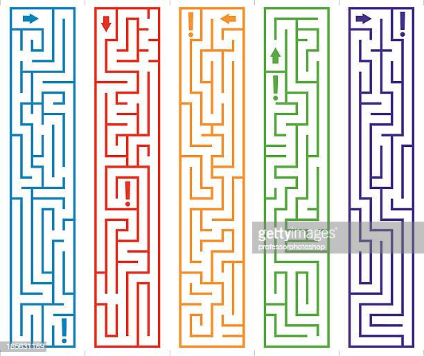maze bookmarks - lost stock illustrations, clip art, cartoons, & icons
