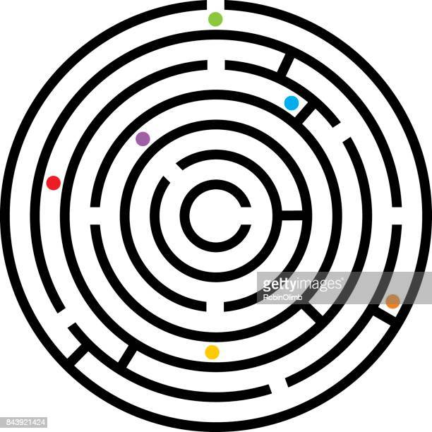 maze icon 2 - lost stock illustrations, clip art, cartoons, & icons