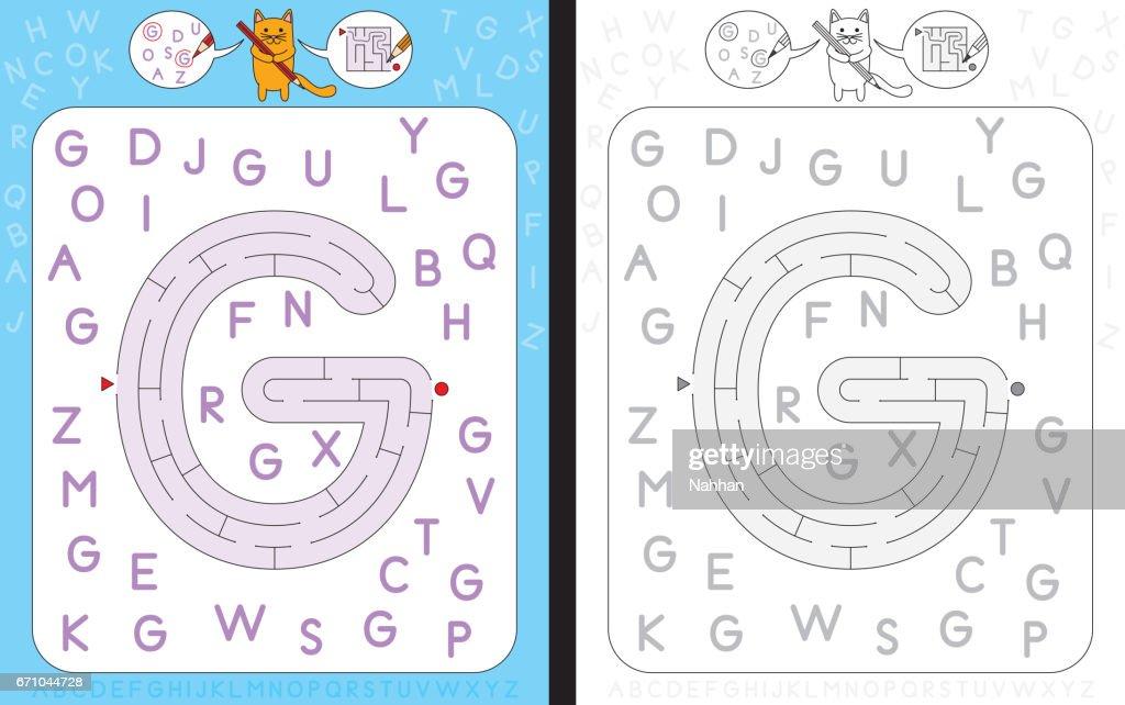Maze letter G