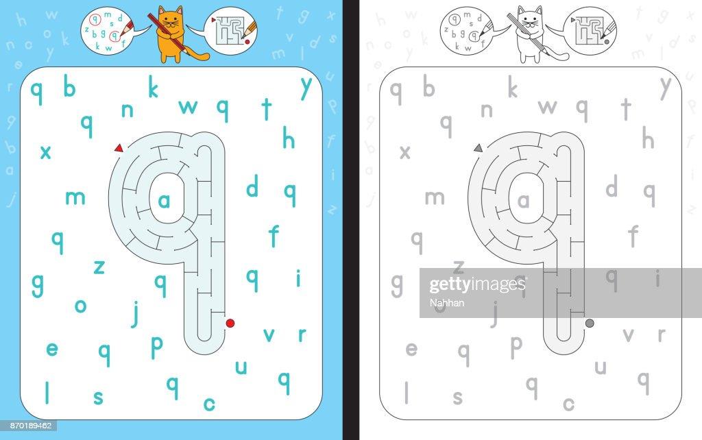 Maze letter q