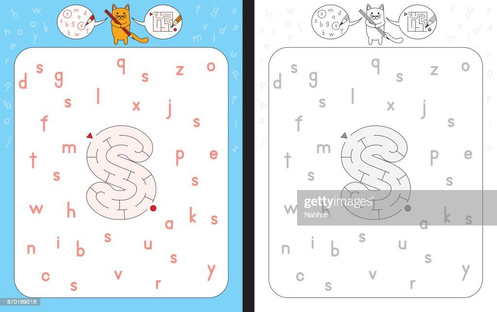 Maze letter s