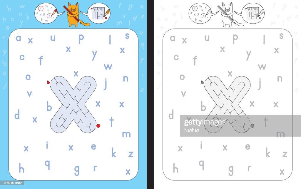 Maze letter x
