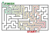 maze or labyrinth vector illustration