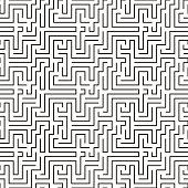 maze pattern seamless, vector illustration