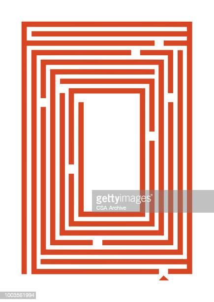 illustrazioni stock, clip art, cartoni animati e icone di tendenza di maze - intrico