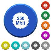 250 mbit guarantee sticker beveled buttons