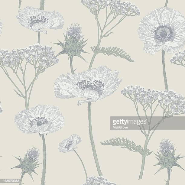 meadow repeat - ranunculus stock illustrations, clip art, cartoons, & icons