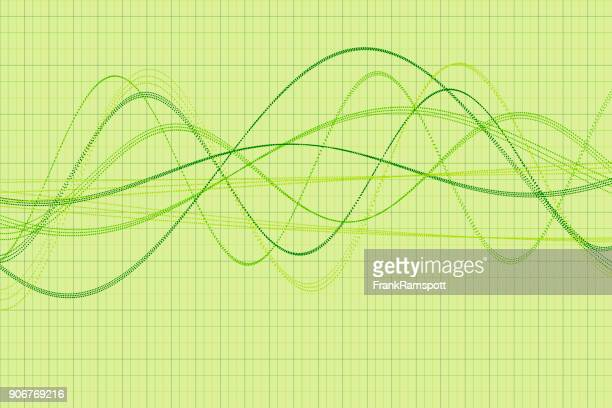 Meadow Vector Wave Dotted Line Pattern Horizontal
