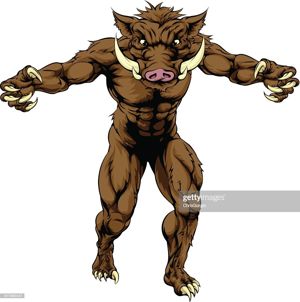 Mean boar mascot