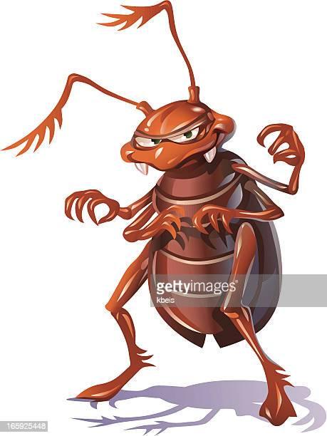 ilustraciones, imágenes clip art, dibujos animados e iconos de stock de media de insecto - cucarachas