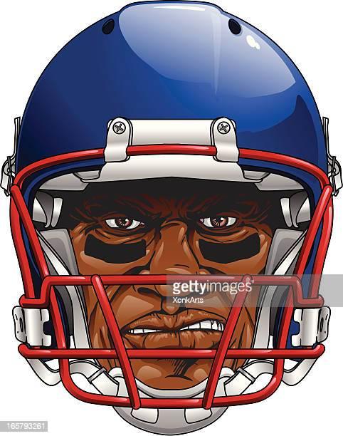 Mean Faced Football Player Head