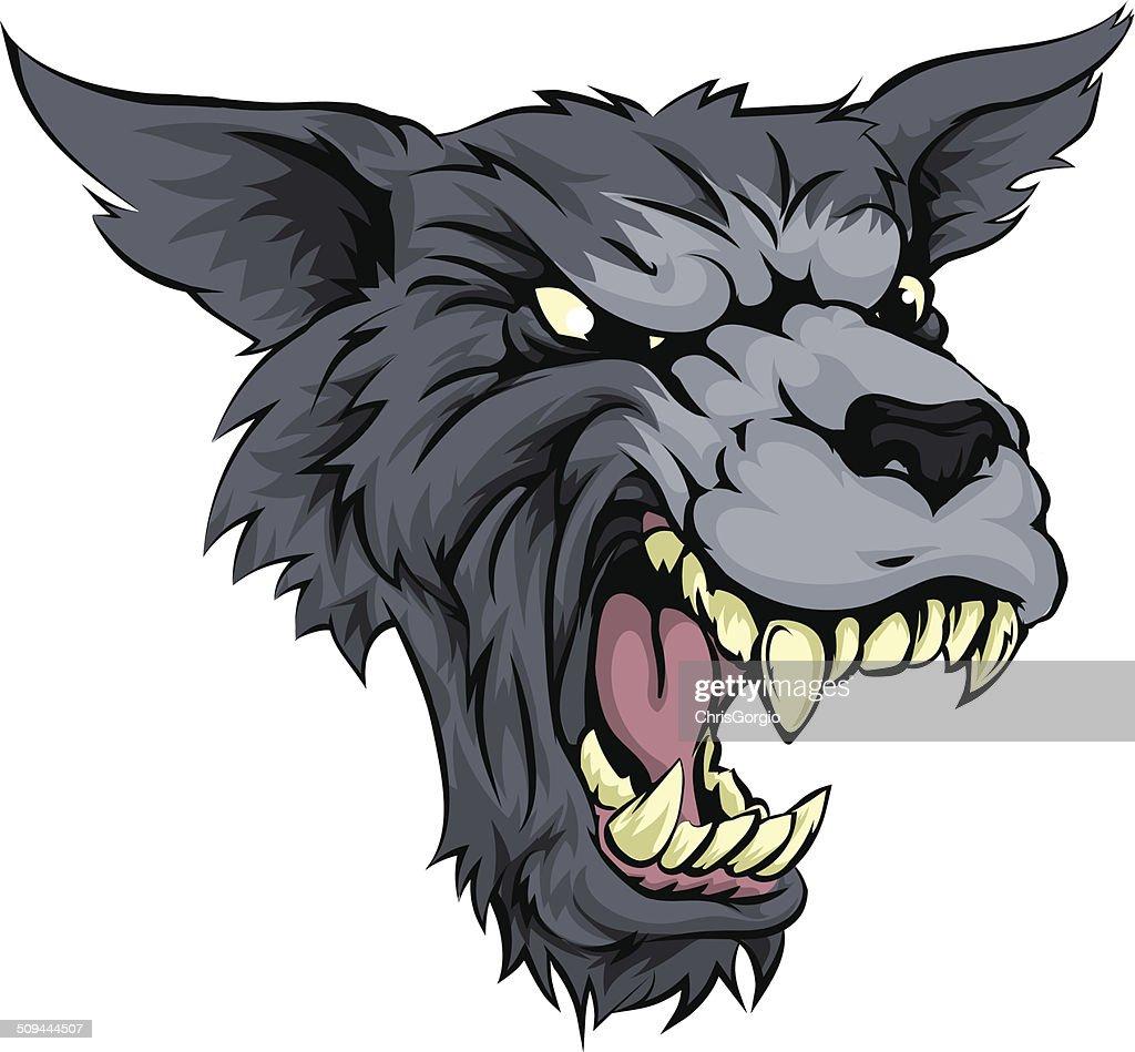 Mean wolf or werewolf