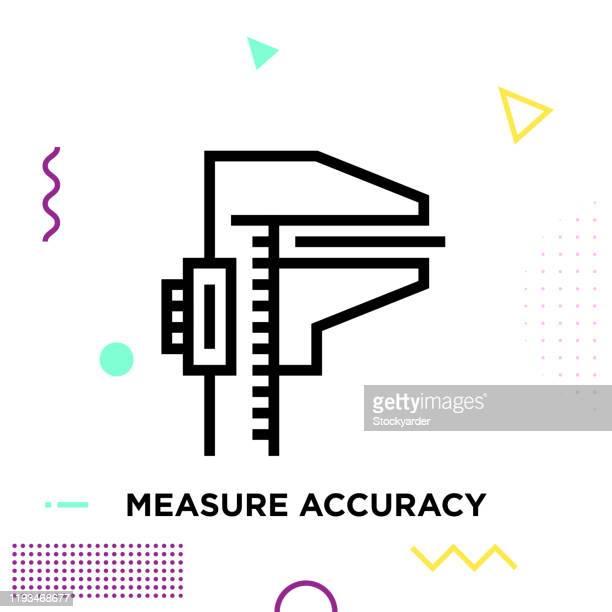 measure accuracy line icon design editable stroke - the end stock illustrations