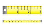 measure tape illustration design over a white background