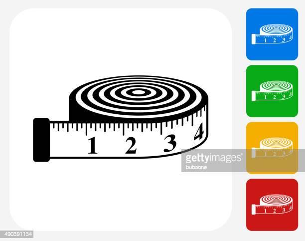 Medição ícone de fita plana Design gráfico