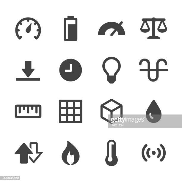 measurement units icons - acme series - weights stock illustrations, clip art, cartoons, & icons