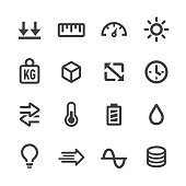Measurement Units Icons Set - Acme Seriesa