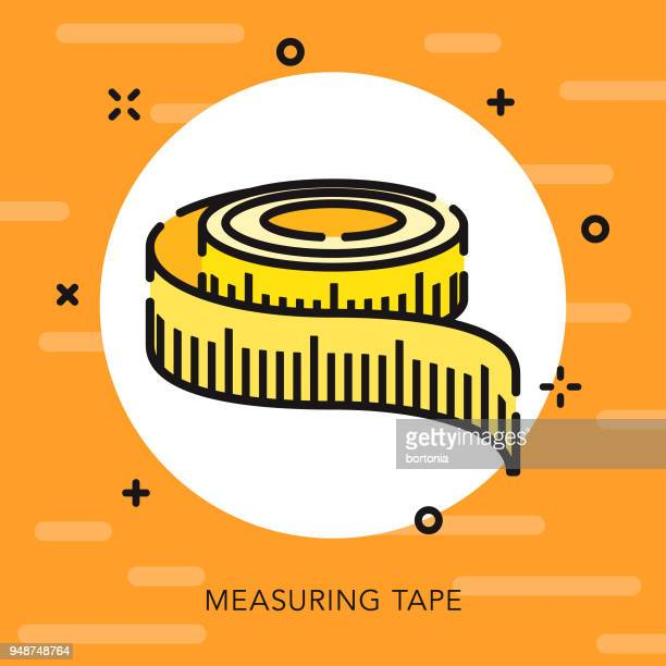 measurements open outline construction icon - inch stock illustrations