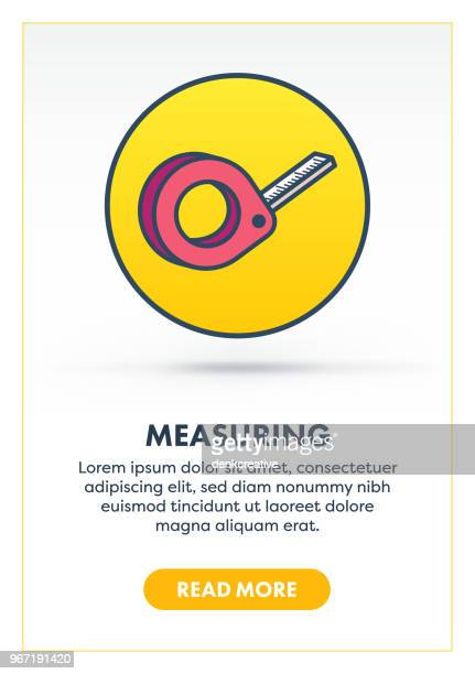 measuring concept banner - inch stock illustrations