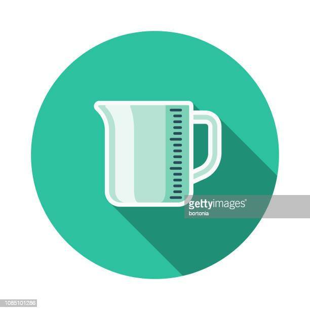 measuring cup meal kit icon - measuring cup stock illustrations