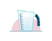 Measuring cup, vector illustration