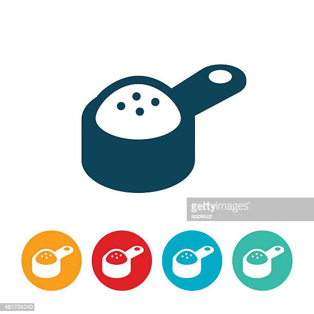 Measuring Cup With Ingredients Icon
