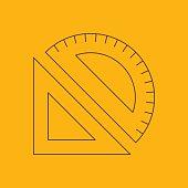 Measuring instruments line icon
