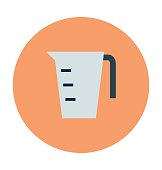 Measuring Jug Colored Vector Icon