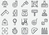 Measuring Line Icons