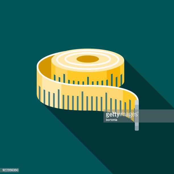 measuring tape flat design home improvement icon - tape measure stock illustrations, clip art, cartoons, & icons
