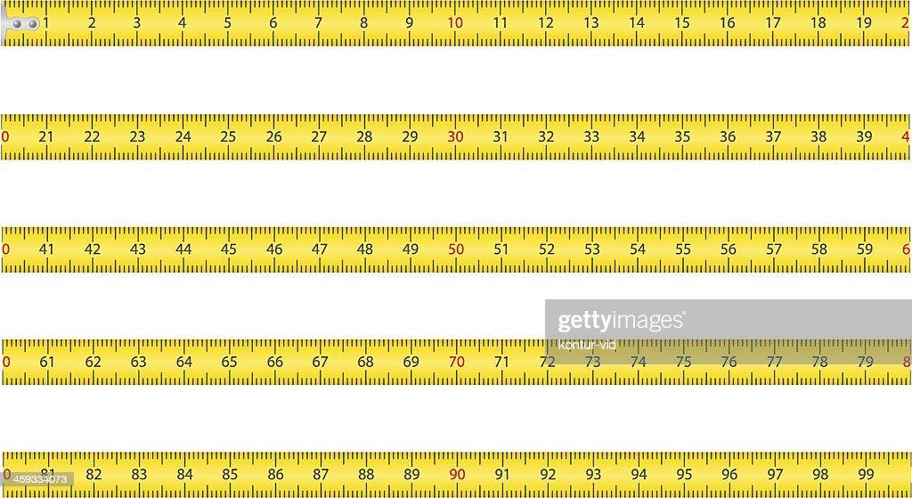 measuring tape for tool roulette vector illustration