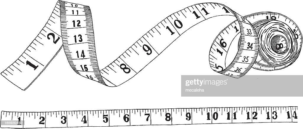 measuring tape vector art