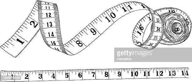 measuring tape - fashion stock illustrations