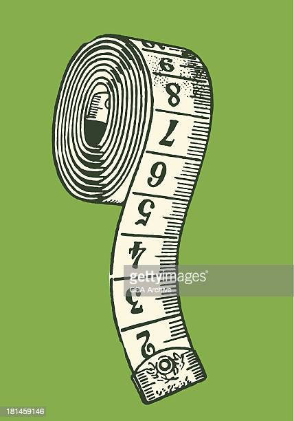 measuring tape - tape measure stock illustrations, clip art, cartoons, & icons