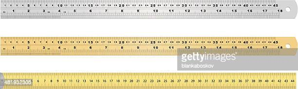 measuring tools - ruler stock illustrations