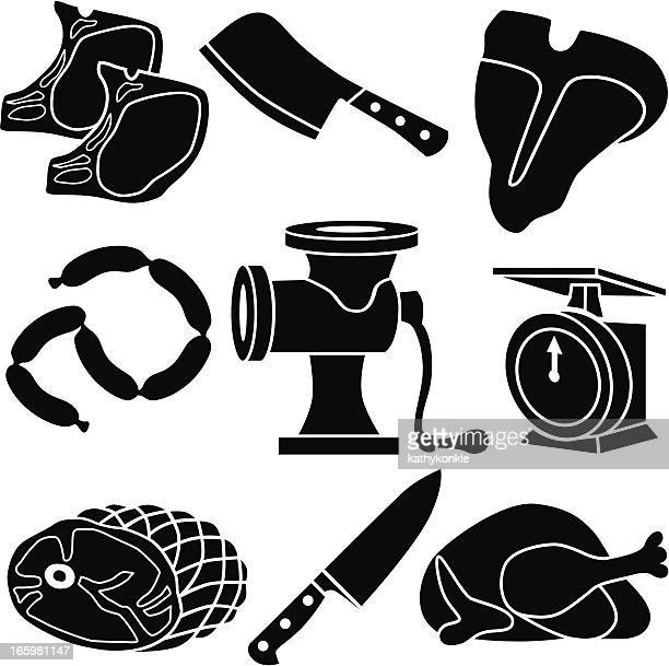 meat and grinder icons