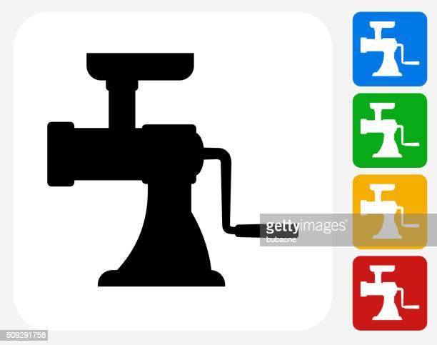 Meat Grinder Icon Flat Graphic Design